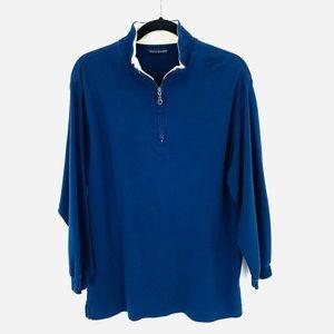 Scott Barber Blue 1/4 Zip Pull Over Size Large